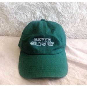 LOST BOY CLUB emerald green never grow up dad hat